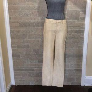 Madewell geometric cream trousers